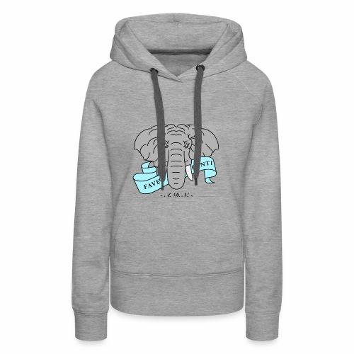Elephant de Nantes - Sweat-shirt à capuche Premium pour femmes