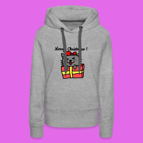 Christmas Kitty - Sweat-shirt à capuche Premium pour femmes