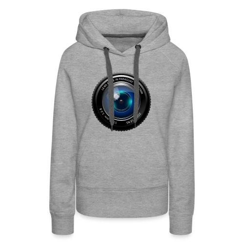 Camera Lens - Felpa con cappuccio premium da donna