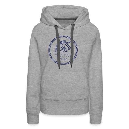 logo_2017-bleu - Sweat-shirt à capuche Premium pour femmes