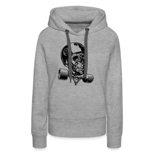 Skull Longboard Rider - positive print - Sweat-shirt à capuche Premium pour femmes