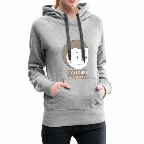 Tchoupi de l'Espace ! - Sweat-shirt à capuche Premium pour femmes