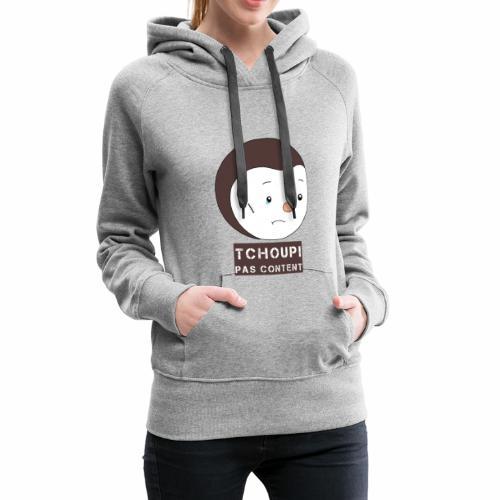 Tchoupi pas content ! - Sweat-shirt à capuche Premium pour femmes