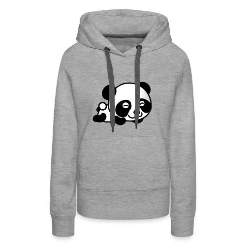 Panda t-shirt - Felpa con cappuccio premium da donna