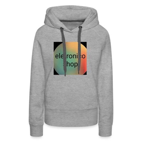 Eletronico shop - Felpa con cappuccio premium da donna
