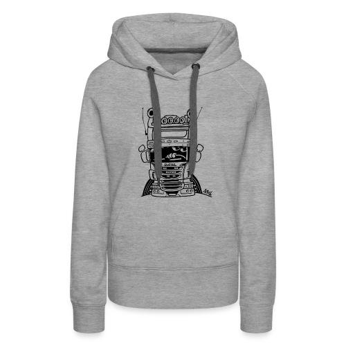 0323 Truck in ZWART - Vrouwen Premium hoodie