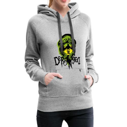 DerangeD - Tattoo Metal Horror Vampire - Dame Premium hættetrøje