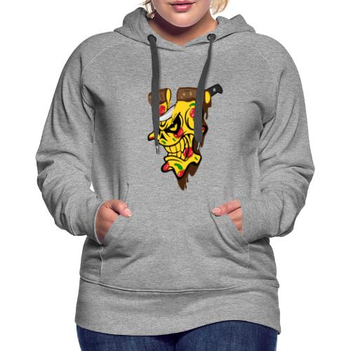Pizza Schädel mit Messer - Frauen Premium Hoodie