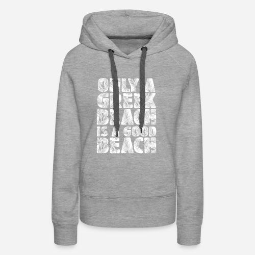 BEACH white - Frauen Premium Hoodie