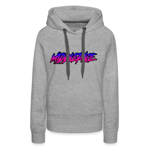Middleface Logo - Blue and Pink - Women's Premium Hoodie
