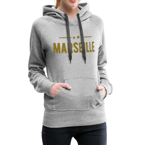 marseille in Goldener Schrift - Frauen Premium Hoodie