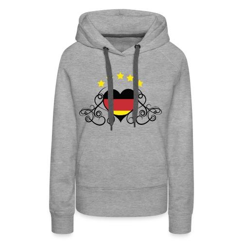 Tribal-Herz - Frauen Premium Hoodie