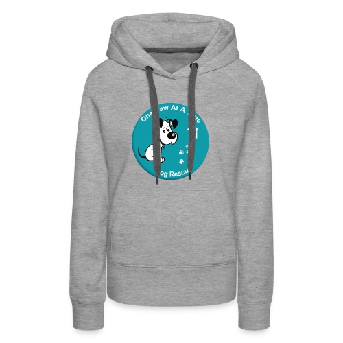 One Paw at a Time Logo - Women's Premium Hoodie
