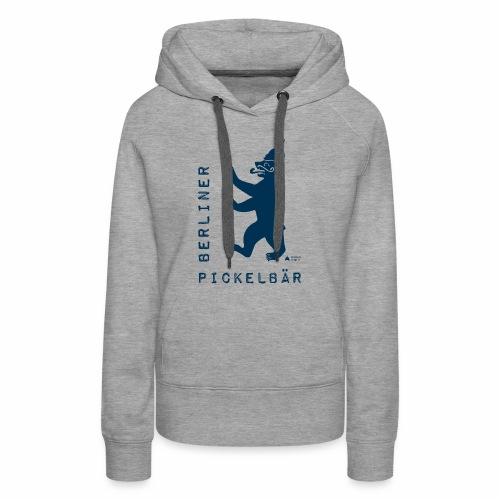 Berliner Pickelbär (Dark Blue) - Women's Premium Hoodie