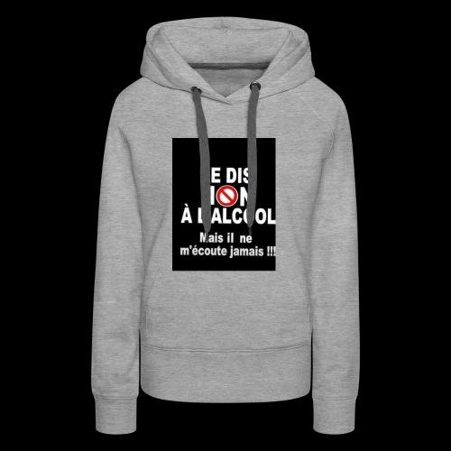 1DCC2EA4 45E5 4113 9F8B 23BC8D6D3254 - Sweat-shirt à capuche Premium pour femmes