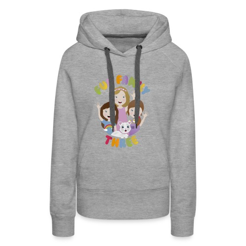 Fun Family Three Logo - Women's Premium Hoodie