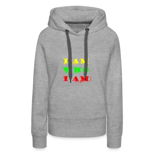 Je suis qui je suis - Sweat-shirt à capuche Premium pour femmes