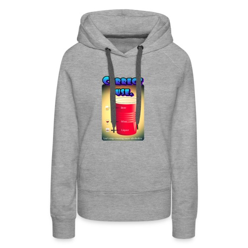 redcup-err - Sudadera con capucha premium para mujer