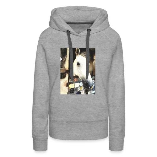 wit paard - Vrouwen Premium hoodie