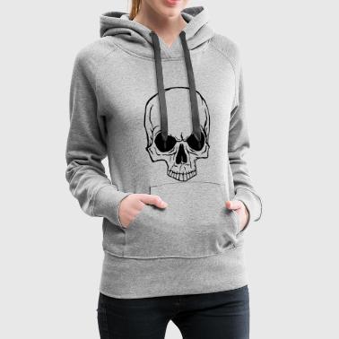 crâne - Sweat-shirt à capuche Premium pour femmes