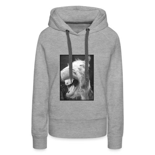 lachender Esel - Frauen Premium Hoodie