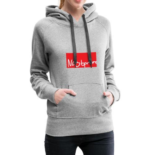 Noobpreme Red White - Frauen Premium Hoodie