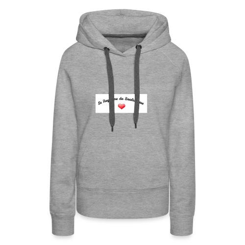royaume - Sweat-shirt à capuche Premium pour femmes