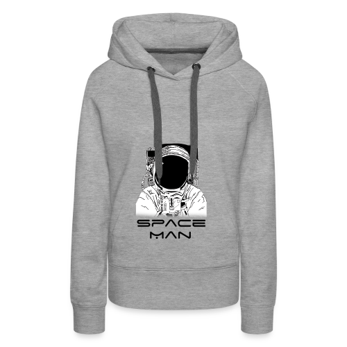 Space man black - Women's Premium Hoodie