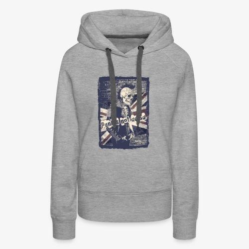 Punks not dead - Bluza damska Premium z kapturem