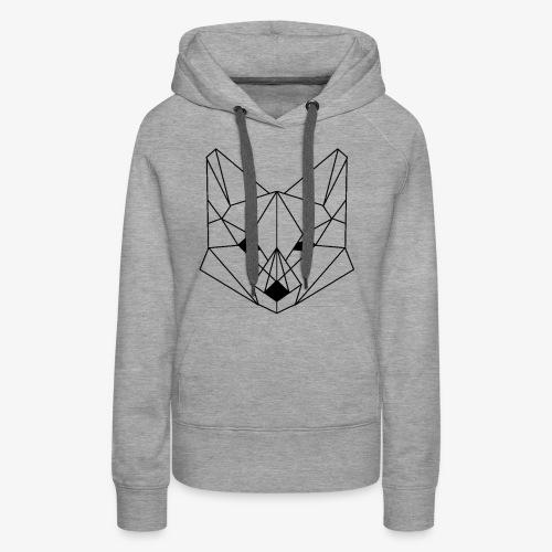 Geometrischer Fuchs - Frauen Premium Hoodie