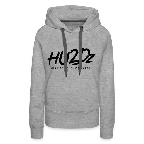 HU2Dz Logo Zwart - Vrouwen Premium hoodie