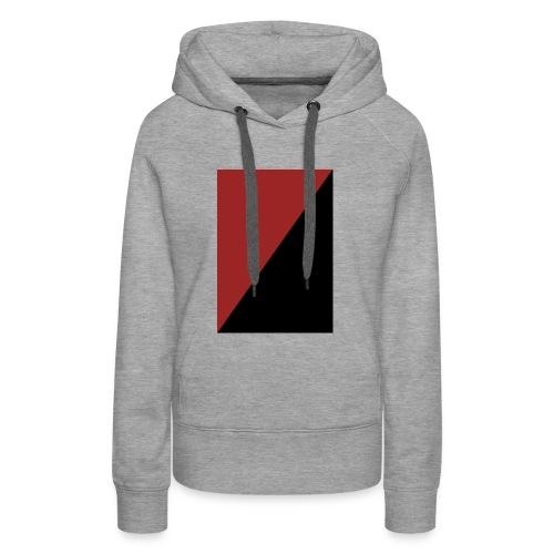 Schwarz/Rot - Frauen Premium Hoodie