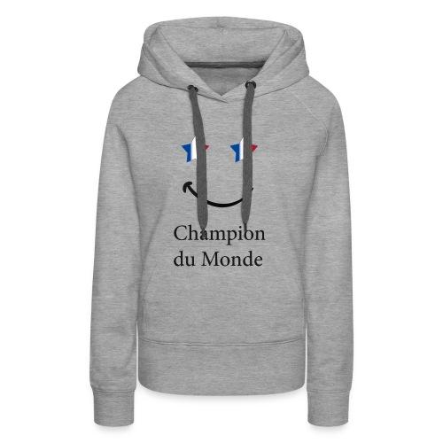 champion du monde bleu blanc rouge - Sweat-shirt à capuche Premium pour femmes