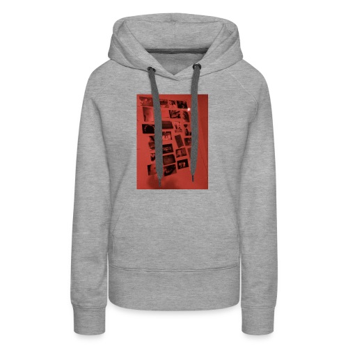 Red Grunge Night T-shirt - Women's Premium Hoodie