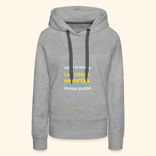 Cambia las cosas - Sudadera con capucha premium para mujer