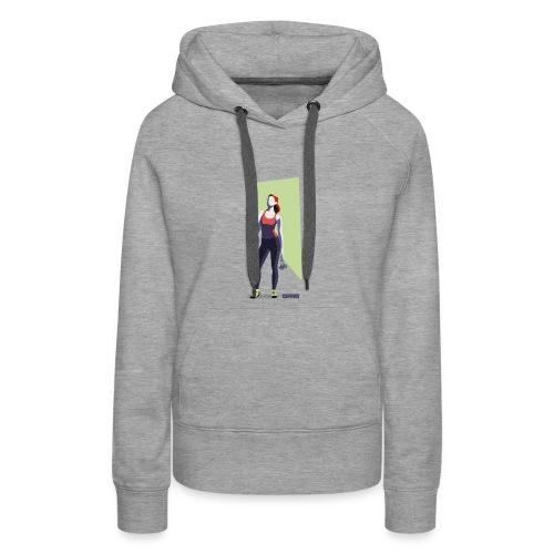climbing girl - Sudadera con capucha premium para mujer