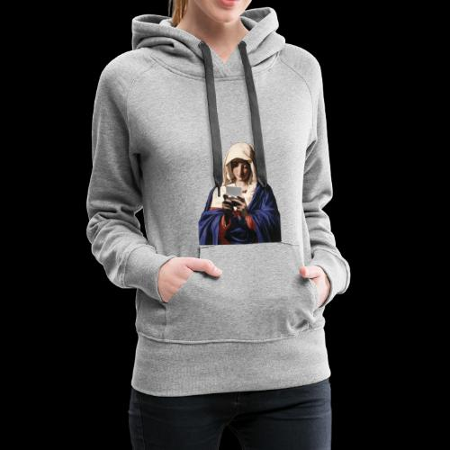 Virgin Maria Playing NDS - Frauen Premium Hoodie