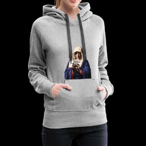 Virgin Maria Playing NDS - Frauen Premium Hoodie