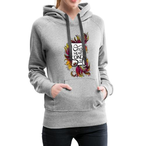 One Heart One Soul - red - Frauen Premium Hoodie