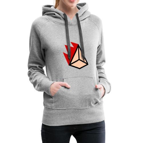Burning Pyramid - Frauen Premium Hoodie