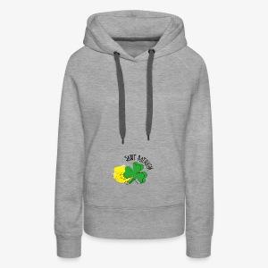logo saint patrick - Sweat-shirt à capuche Premium pour femmes