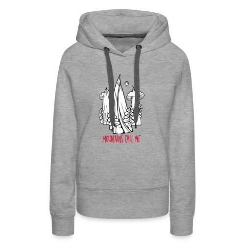 montagnes - Sweat-shirt à capuche Premium pour femmes