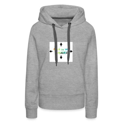 Ceci es un t-shirt - Sweat-shirt à capuche Premium pour femmes