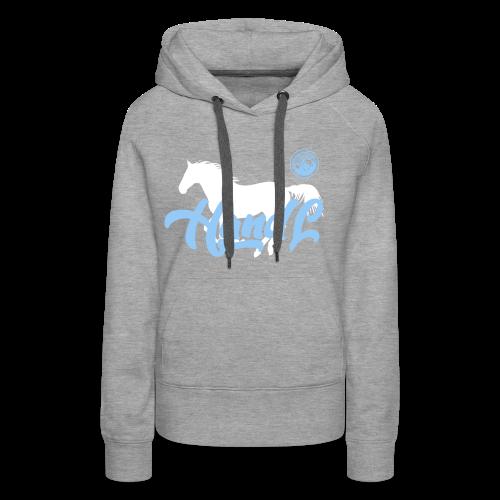 H&l denim Simple Horse - Sweat-shirt à capuche Premium pour femmes