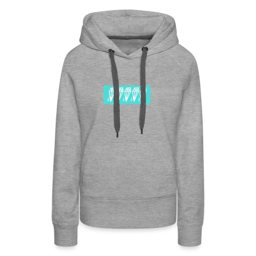 5 diamonds cyan - Women's Premium Hoodie