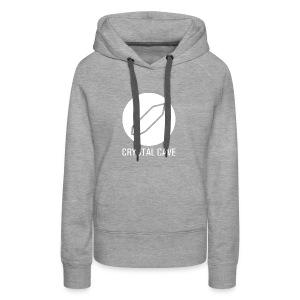 Crystal Cave Logo bianco - Felpa con cappuccio premium da donna