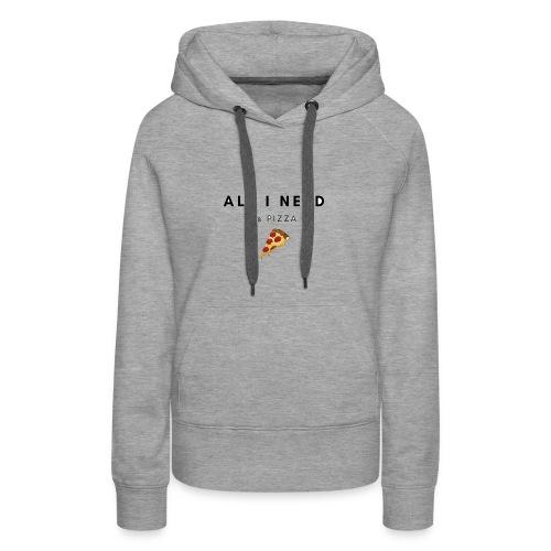 pizza - Sudadera con capucha premium para mujer