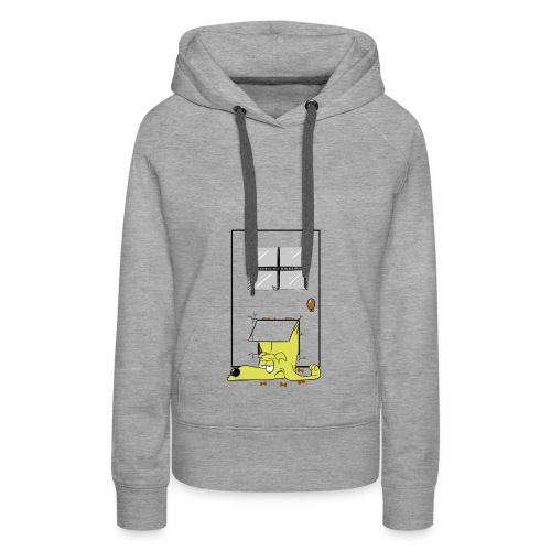 Stuck in a door dog - Women's Premium Hoodie