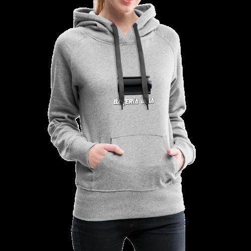 Batería Baja - Sudadera con capucha premium para mujer
