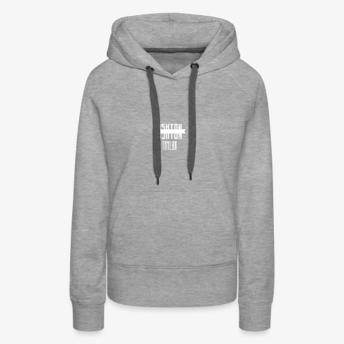 AshtonTaylor Merch Logo Modern White - Women's Premium Hoodie